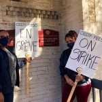 membres syndiqués en grève